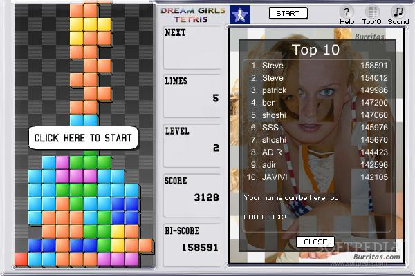 Dream Girls Tetris screenshot 2