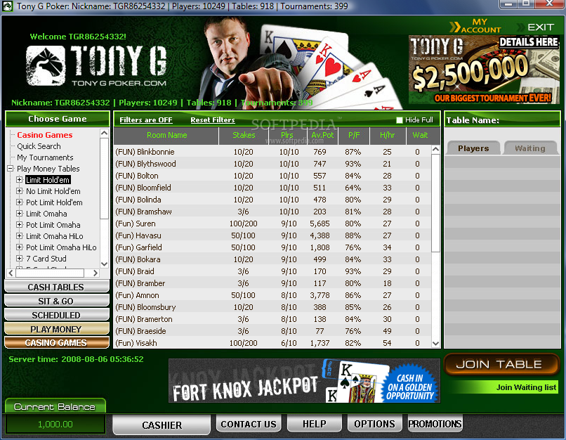 Tony G Poker 2009 Pro screenshot 1