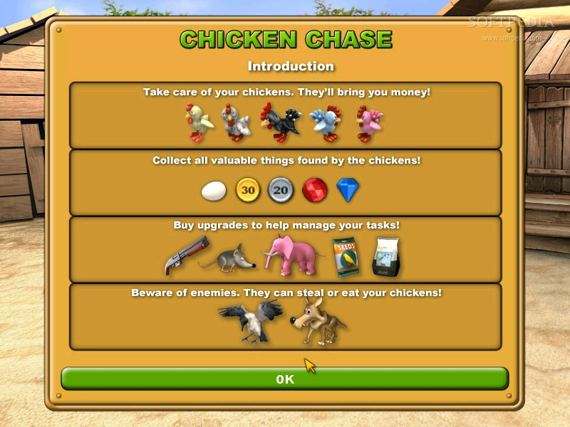 Chicken Chase (free version) download for PC