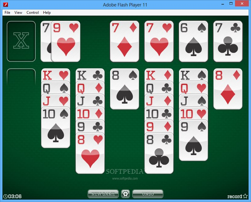 3 card turnover klondike solitaire
