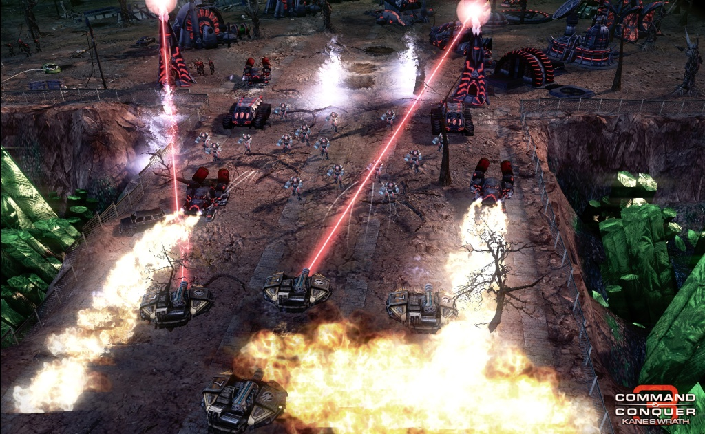 Command & Conquer 3: Kane's Wrath Gunship Gauntlet Map screenshot 2