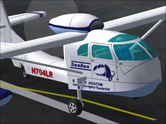 Microsoft Flight Simulator 2004 Addon - Republic Seabee RC-3 screenshot 1