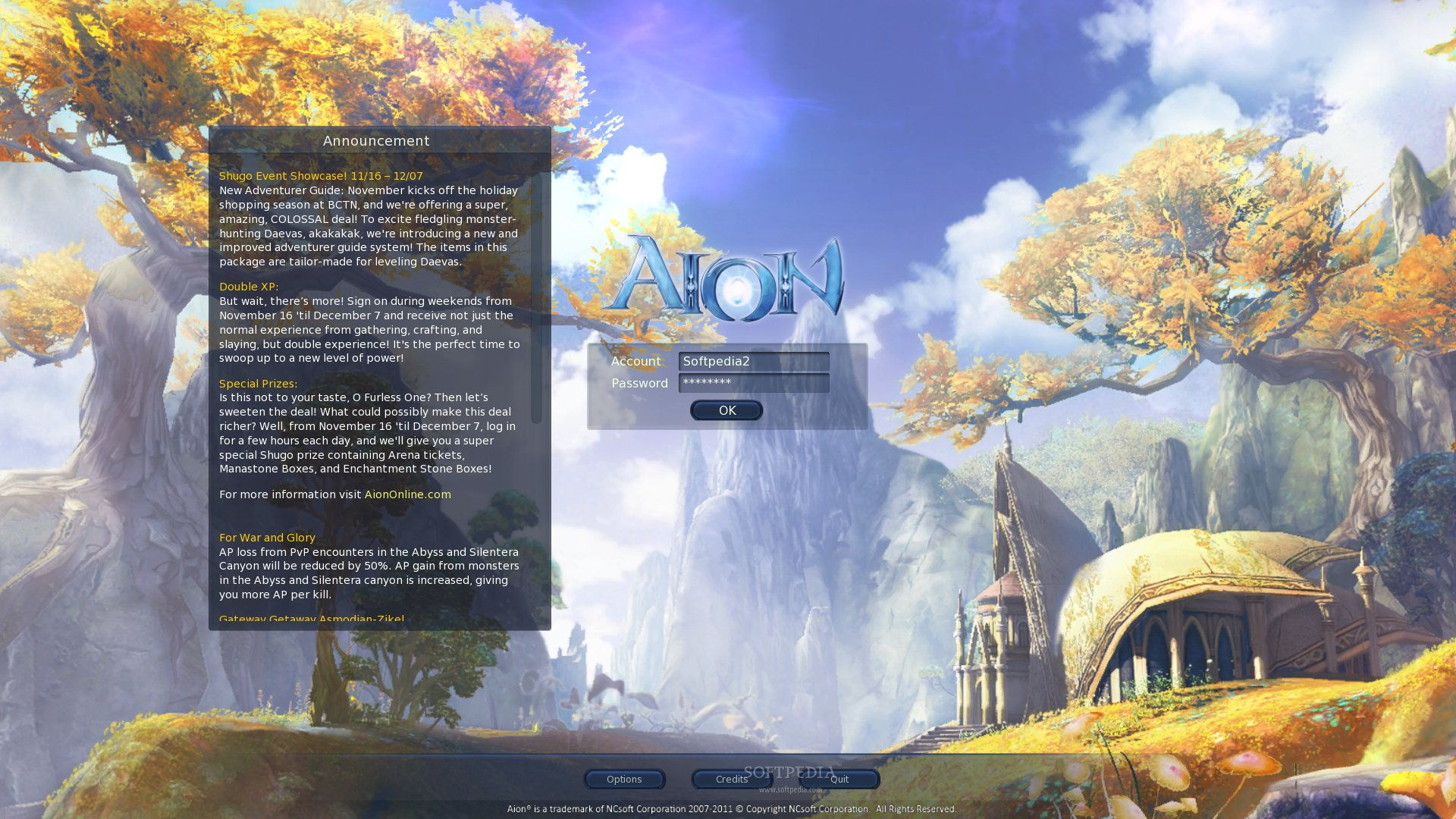 Aion Client screenshot 1