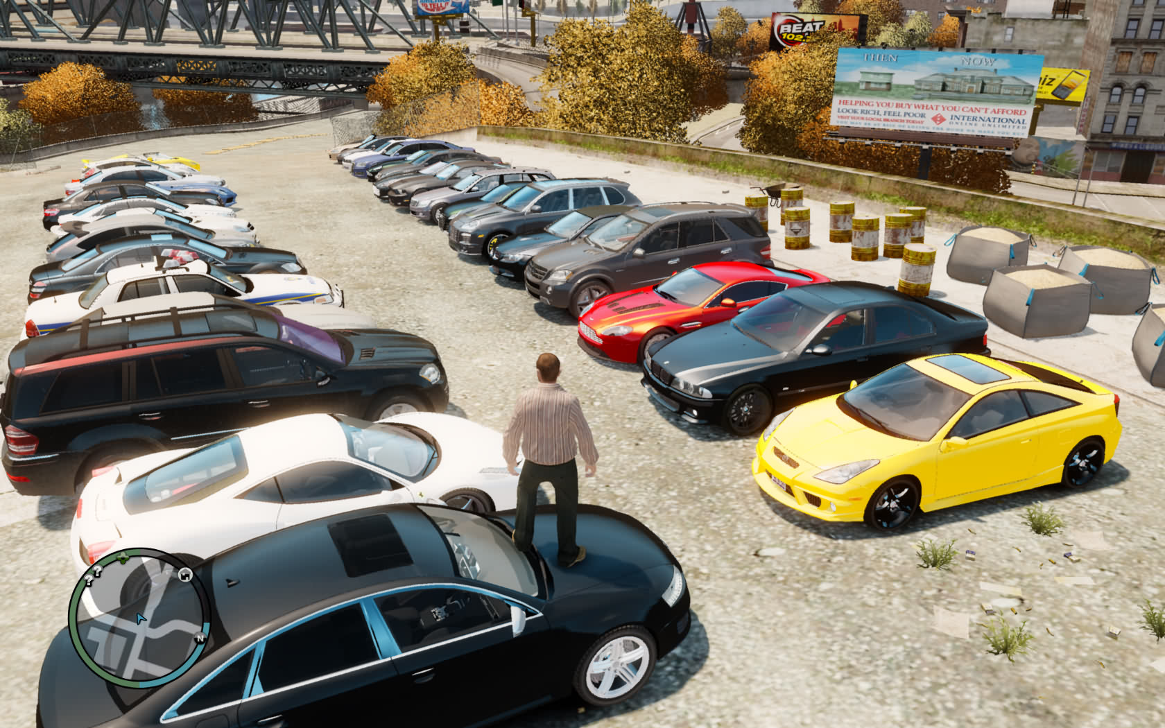 , this is a big mod for GTA IV. The author changed all original cars ...