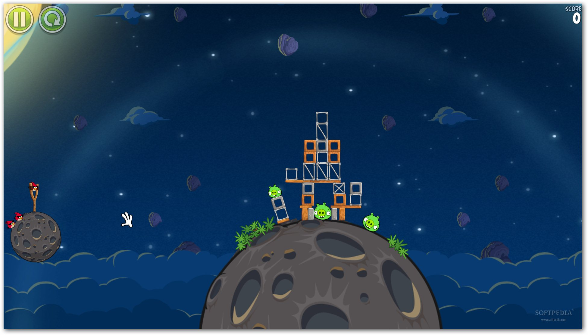how to get feathers in angry birds space