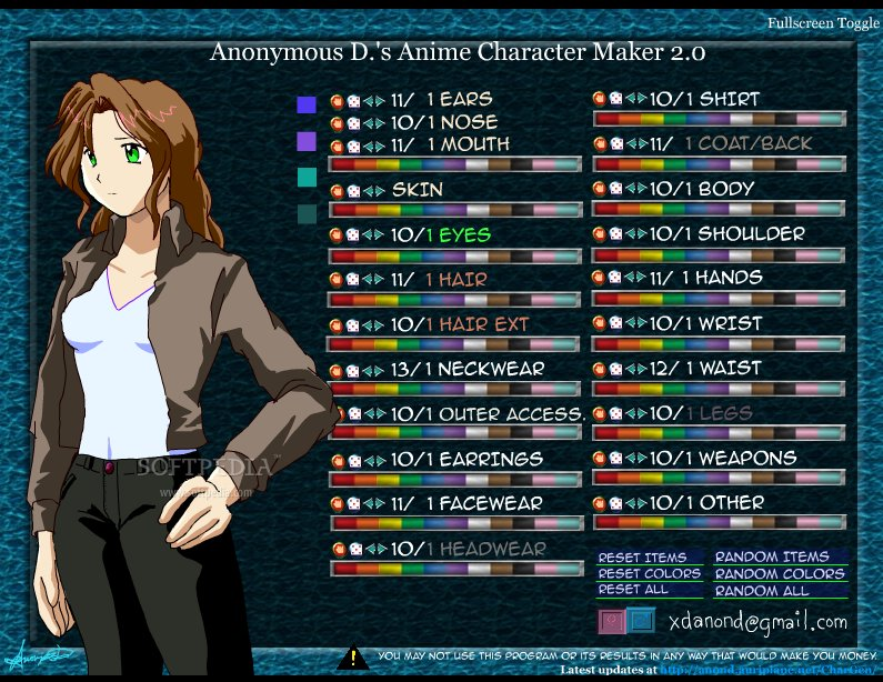 Anime Character Maker Download