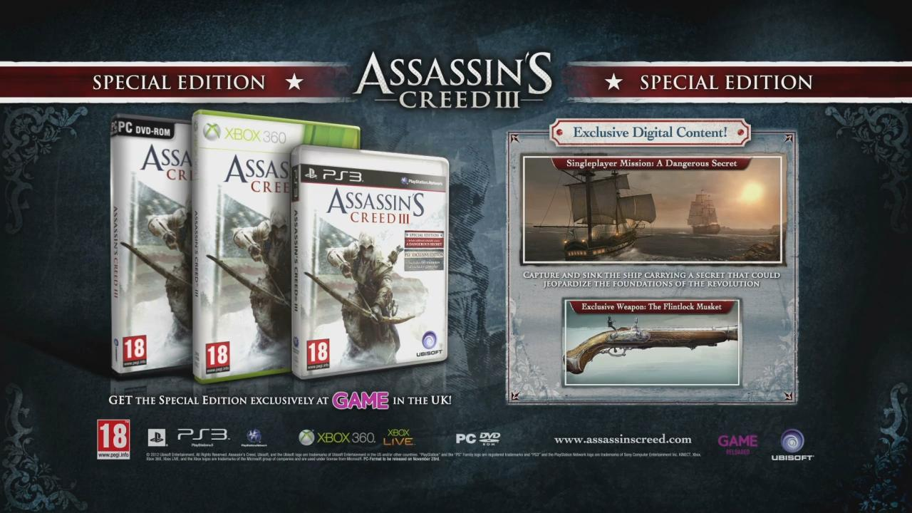 Assassin's Creed III: Official Special Edition Unboxing Trailer screenshot 11