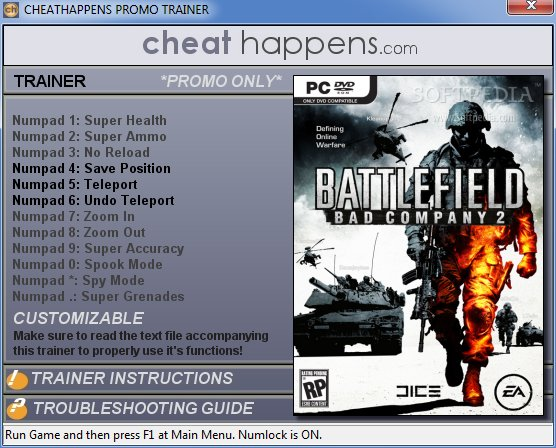1Battlefield Bad Company 2 Trainer
