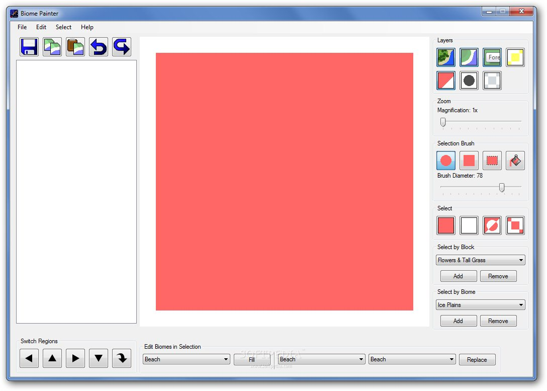 BiomePainter screenshot 1