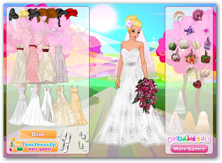 Elegant wedding dress up games choices 3 outifts male for Dress up games wedding