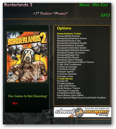You May Download Files Here: BORDERLANDS 2 PC TRAINER DOWNLOAD Borderlands 2 Trainer