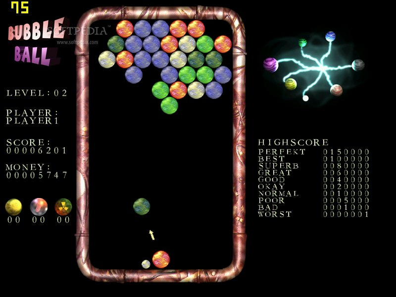 Bubble Ball - As you progress through levels, the difficulty increases