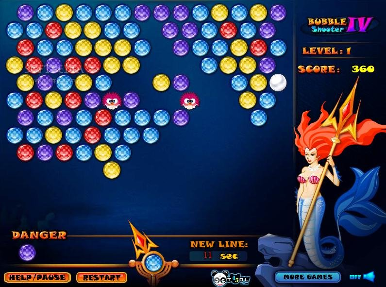 games bubble shooter 4