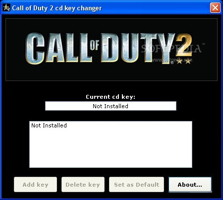 Call of duty 4 serial number.