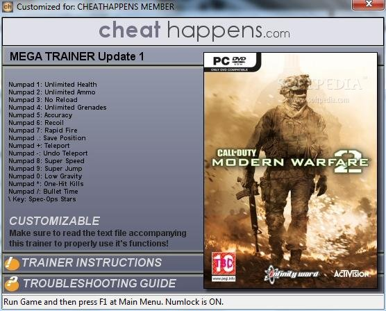 Call of Duty: Modern Warfare 2 +16 Trainer Download