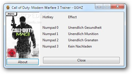 Call of Duty: Modern Warfare 3 +5 Trainer for 1.0 screenshot 1