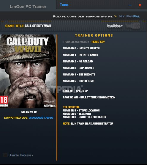 Call of Duty: WWII +9 Trainer Download