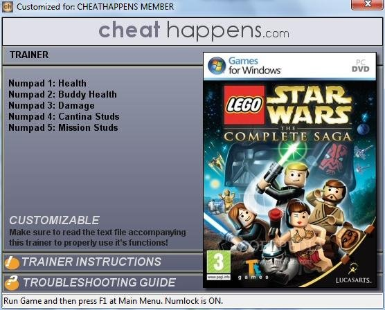 lego star wars the complete saga 5 trainer download