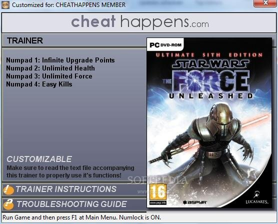 The Force Unleashed 2 Trainer