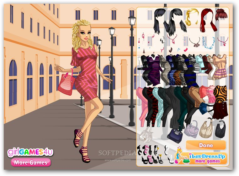Chic in Stripes Dress Up screenshot 1