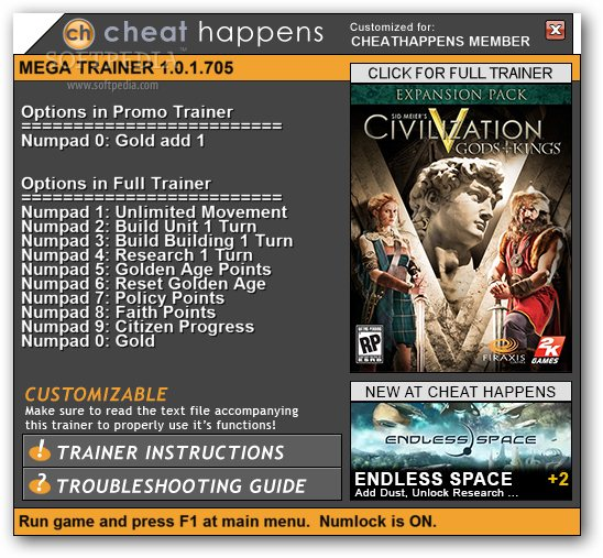 1Civilization 5 Gods And Kings Trainer