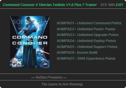 command and conquer 4 trainer cheats