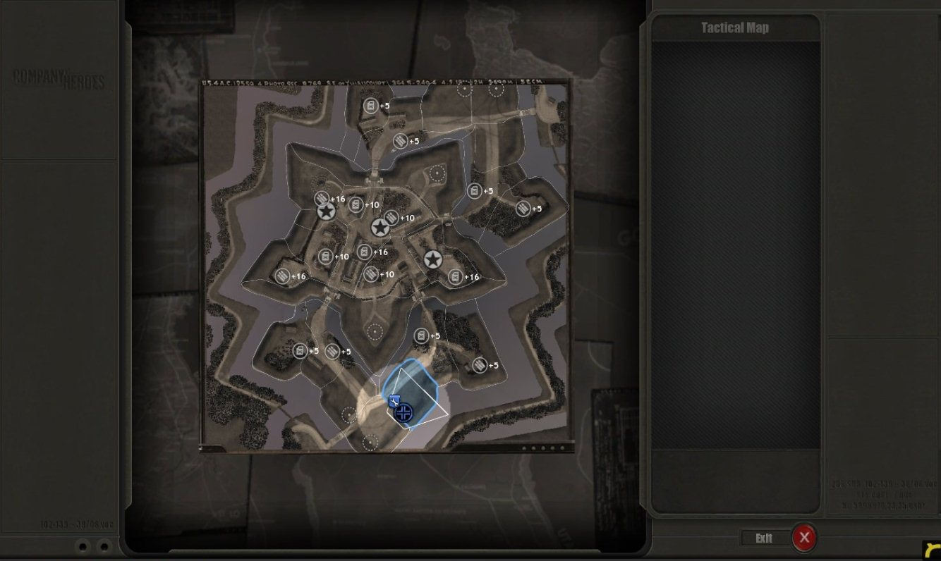 Company of Heroes Map - Fortress Groningen screenshot 2