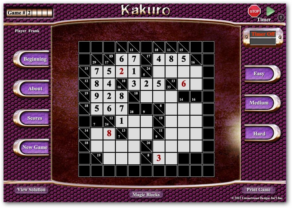 Kakuro screenshot 2