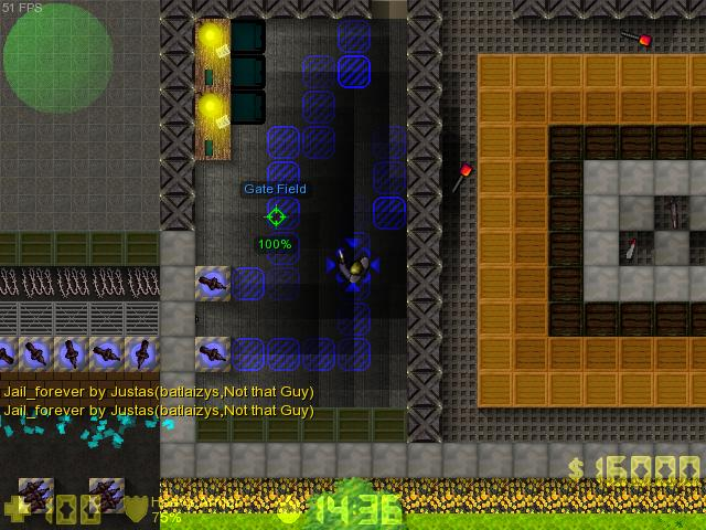 Counter-Strike 2D Map - Jail_forever and Con_random_wallz screenshot 2