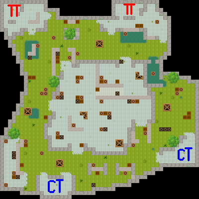 Counter-Strike 2D Map - aim_aztec screenshot 1