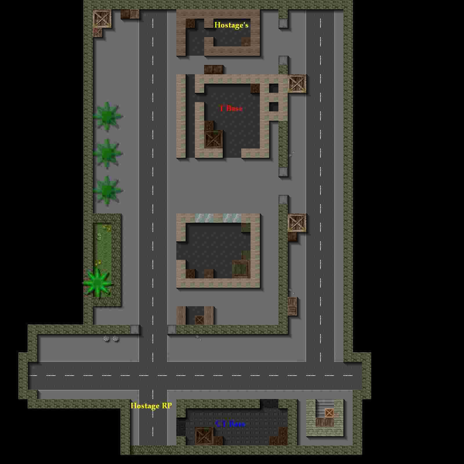Counter-Strike 2D Map - cs_compound screenshot 1