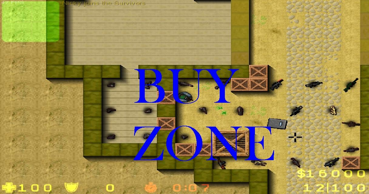 Counter-Strike 2D Map - zm_dust2 screenshot 2