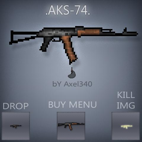 Counter-Strike 2D Skin - AKS-74 screenshot 1