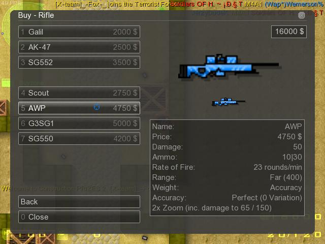 Counter-Strike 2D Skin - AWP Crystal screenshot 1