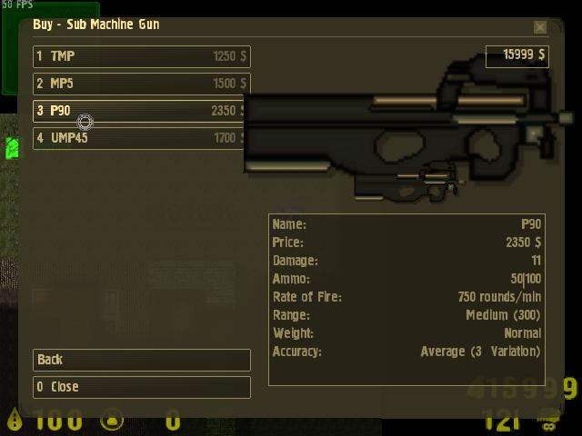 Counter-Strike 2D Skin - FN P90 screenshot 1