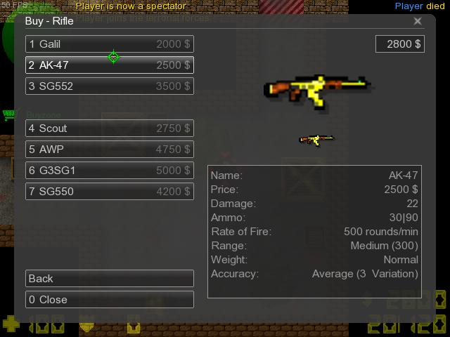 Counter-Strike 2D Skin - AK-47 Gold screenshot 1