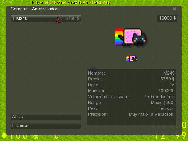 Counter-Strike 2D Skin - Nyan Cat MG screenshot 1