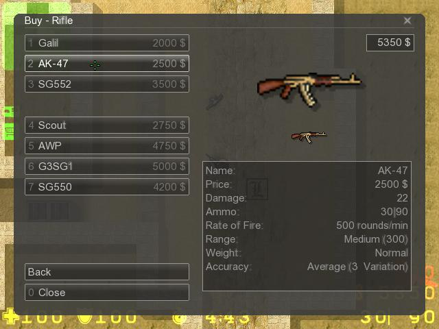 Counter-Strike 2D Skin - Golden ak47 screenshot 1