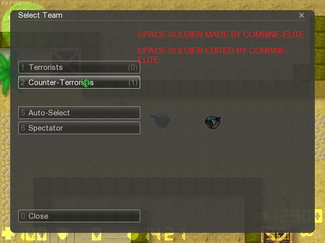 Counter-Strike 2D Skin - Space Soldier screenshot 1