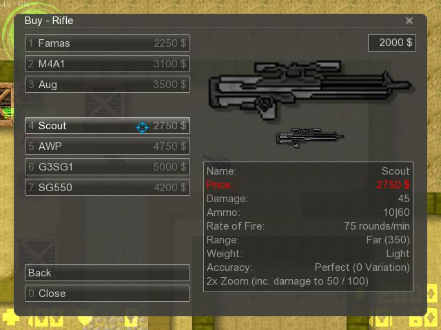 Counter-Strike 2D Skin - WA2000 Skin+Sounds screenshot 1