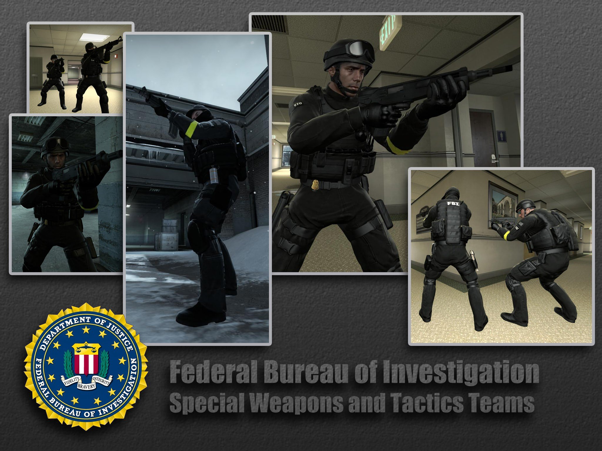 Counter-Strike: Global Offensive Addon - FBI SWAT screenshot 1