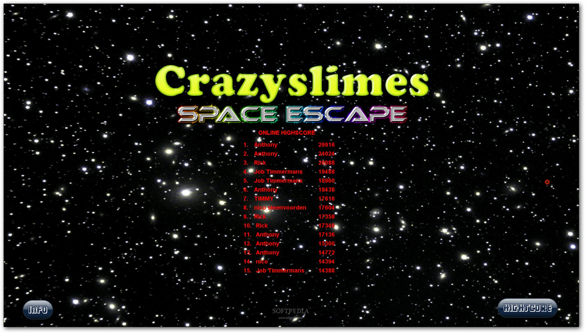Crazyslimes - Space Escape screenshot 1