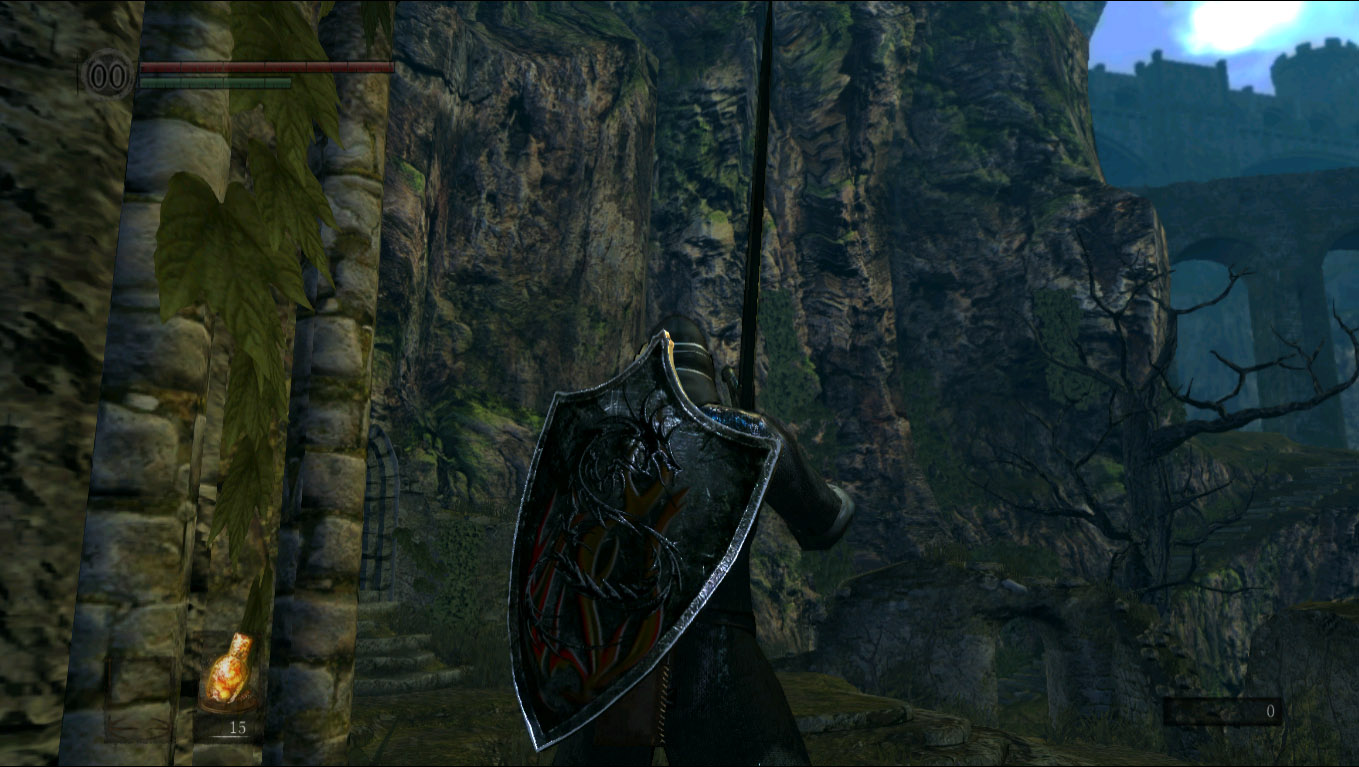 Dark Souls Mod - Tower Kite Shield Retexture - Dragon Born of Flames screenshot 1