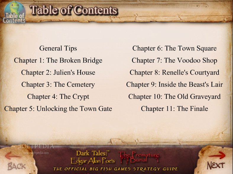Dark Tales: Edgar Allan Poe's The Premature Burial Strategy Guide screenshot 1