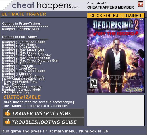 Чит Коды Dead Rising 2 Off The Record