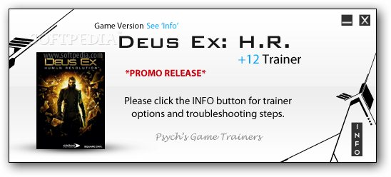 Deus Ex: Human Revolution +2 Trainer for 1.3.643.1 screenshot 1