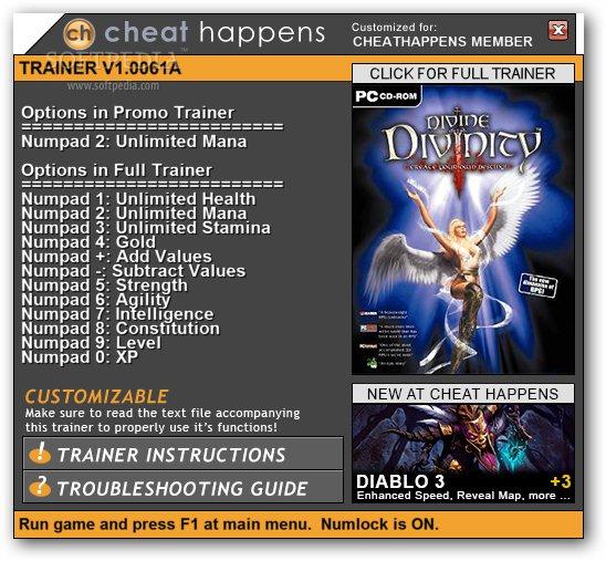 Divine Divinity +1 Trainer Download