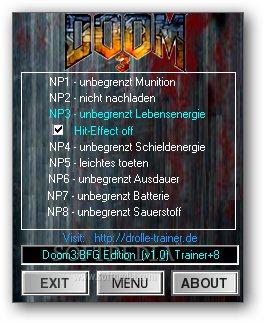 Doom 3: BFG Edition +8 trainer for 1 0 Download