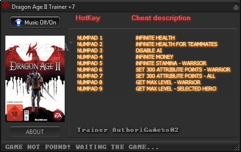 dragon age 2 v1 04 trainer