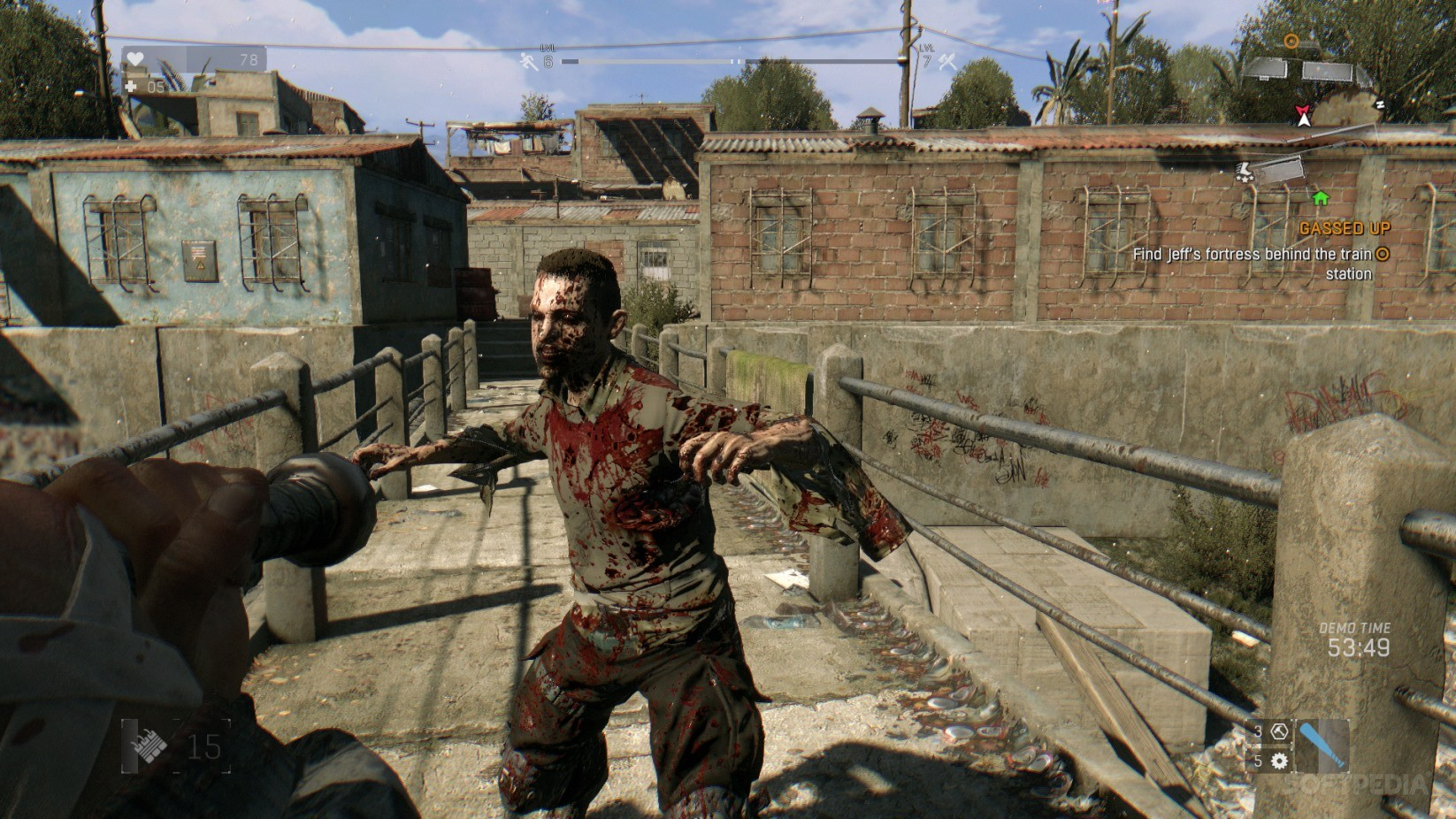 how to get guns in dying light demo